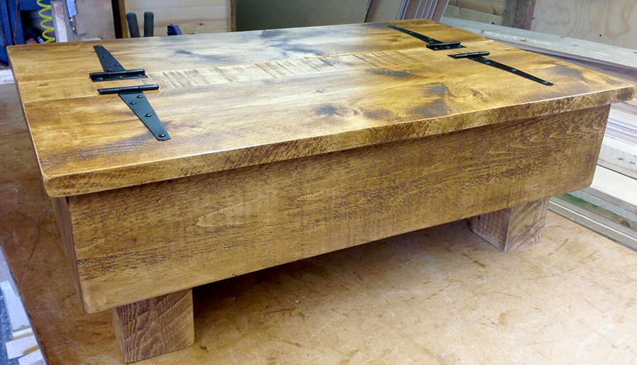 Storage coffee table rustic owl for Pine coffee table with storage