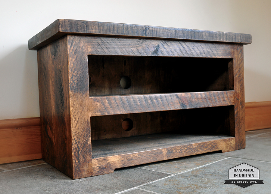 chunky plank tv stand rustic owl. Black Bedroom Furniture Sets. Home Design Ideas